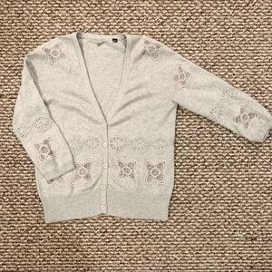 Anthropologie cardigan lace